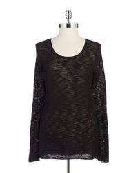 T Tahari | Black Knit Lightweight Sweater | Lyst