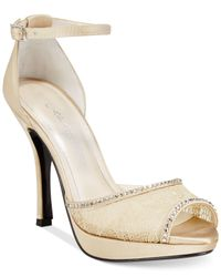 Caparros | Natural Wynn Evening Platform Pumps | Lyst