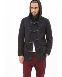 Forever 21 - Black Classic Toggle Coat for Men - Lyst