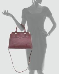Rebecca Minkoff - Purple Amorous Saffiano Satchel Bag Black Cherry - Lyst