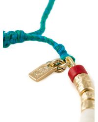 Aurelie Bidermann - White Tassel Bracelet - Lyst