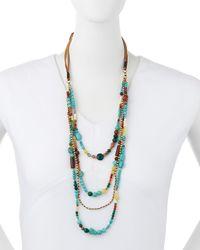 Nakamol - Multicolor Beaded Multi-strand Tie Necklace - Lyst