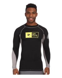 Rip Curl | Black Ripawatu Long Sleeve Rashguard for Men | Lyst