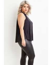 Forever 21 - Gray Faux Suede Top - Lyst
