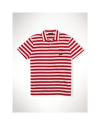 Polo Ralph Lauren - Red Striped Cotton Jersey Polo for Men - Lyst