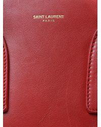 Saint Laurent   Red Sac Du Jour Leather Tote   Lyst