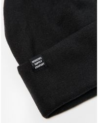 Herschel Supply Co. | Black Rossland Beanie for Men | Lyst