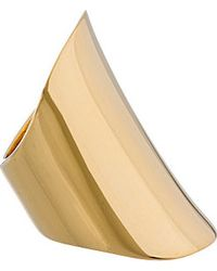 Maiyet - Metallic Gold_plated Handcrafted Curved Ring - Lyst