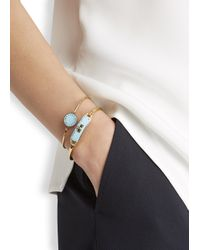 Marc By Marc Jacobs - Blue Carry Forward Aqua Turn-lock Enamel Cuff - Lyst