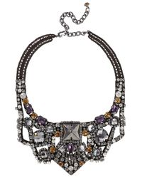 Nocturne | Gray Sirah Crystal Embellished Necklace | Lyst