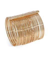 Cara | Metallic Golden Bangle | Lyst