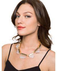 BaubleBar - Metallic Raw Geode Collar - Lyst
