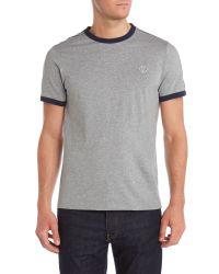 Stussy   Gray Plain Crew Neck Regular Fit T-shirt for Men   Lyst