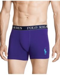 Polo Ralph Lauren | Purple Men's Stretch Jersey Boxer Briefs for Men | Lyst