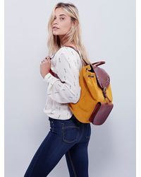 Free People - Yellow Most Wanted Usa Womens Out West Backpack - Lyst