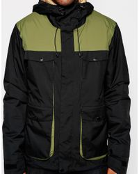 Clwr | Green Jacket With Colour Block for Men | Lyst