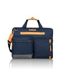Tumi - Blue 'dalston - Acer' Slim Zip Briefcase for Men - Lyst