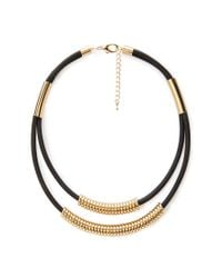 Forever 21 | Metallic Beaded Double Cord Necklace | Lyst