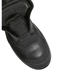 Rick Owens   Black Sphinx Geobasket High-top Leather Trainers for Men   Lyst