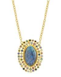 Gurhan | Metallic Confetti Labradorite Oval Pendant Necklace | Lyst