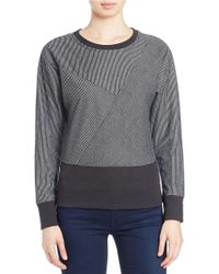 William Rast | Black Textured Sweatshirt | Lyst