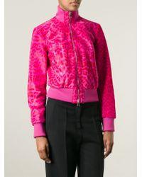 Alexander McQueen | Multicolor Leopard Bomber Jacket | Lyst