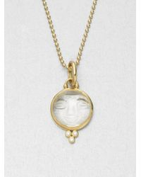 Temple St. Clair | Metallic Celestial Rock Crystal, Diamond & 18k Yellow Gold Medium Moonface Pendant | Lyst