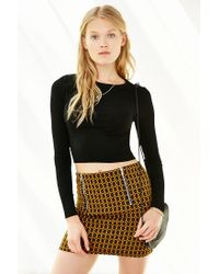 Silence + Noise | Black One Shot Cropped Top | Lyst