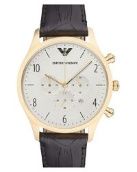 Emporio Armani | Black Chronograph Watch for Men | Lyst