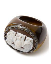 Amedeo - Brown Three Owl Citrine Ring - Lyst