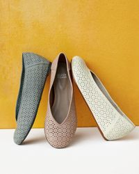 Eileen Fisher - Blue Patch Perforated Ballerina Flat - Lyst