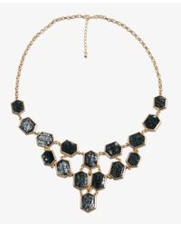 Forever 21 | Green Distressed Geo Necklace | Lyst