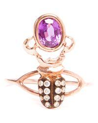 Daniela Villegas - Pink Kephri 18k Rose Gold and Bugambilia Sapphire Ring - Lyst
