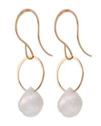 Melissa Joy Manning - Metallic Gold Rainbow Moonstone Single Drop Earrings - Lyst