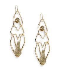 Alexis Bittar | Metallic Miss Havisham Kinetic Tiered Green Tourmaline & Labradorite Doublet Earrings | Lyst