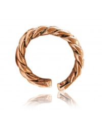 Rachael Ruddick | Metallic Plaited Ring | Lyst