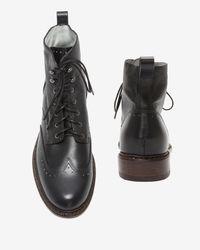 Rag & Bone - Cozen Lace Up Boots: Black - Lyst