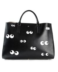 Anya Hindmarch | Black 'Nocturnal Maxi Featherweight Ebury' Tote | Lyst