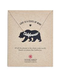 Dogeared | Metallic 'love Is A State Of Mind - California' | Lyst