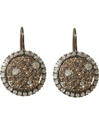 Roberto Marroni | White Brown & Ice Diamond Drop Earrings | Lyst
