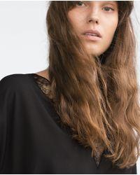 Zara | Black Camisole Top | Lyst