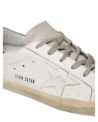 Golden Goose Deluxe Brand - White 10mm Super Star Leather & Suede Sneakers - Lyst