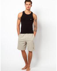 Emporio Armani - Black Stretch Cotton Tank Slim Fit for Men - Lyst