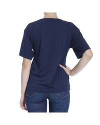 Love Moschino - Blue T-shirt - Lyst