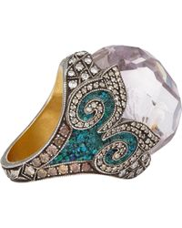 Sevan Biçakci - Multicolor Multi Gemstone, Gold & Silver Swan Intaglio Ring - Lyst