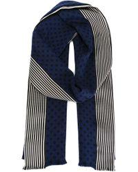 Haider Ackermann - Blue Striped Panel Scarf - Lyst