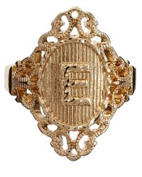 ASOS - Metallic Exclusive E Initial Ring - Lyst