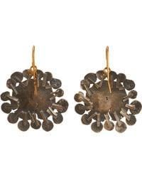 Judy Geib - Metallic Flowery Drop Earrings Size Os - Lyst