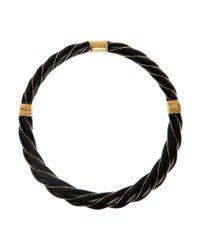 Aurelie Bidermann | Black Diana Gold-plated Bakelite Choker | Lyst