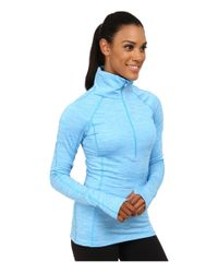 Under Armour - Blue Coldgear® Cozy 1/2 Zip - Lyst